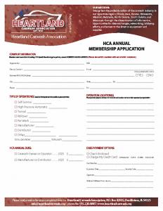 HCA Membership Application